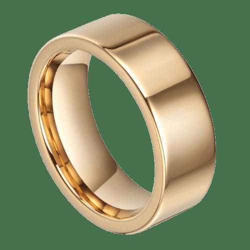 Gold Ring for Men - Tungsten Carbide