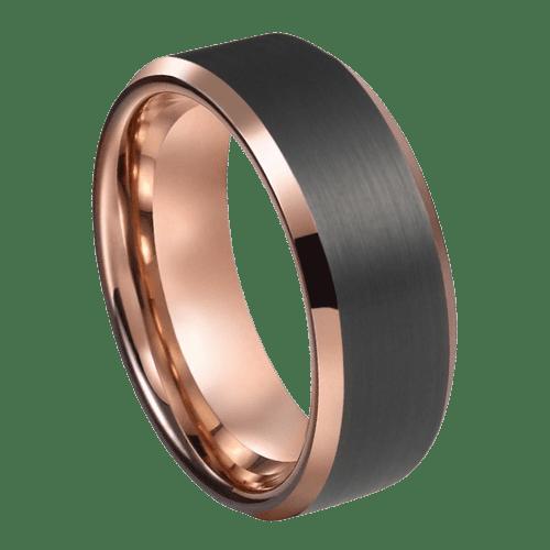Black and Rose Gold Ring for Men