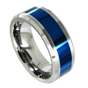 Blue and Silver Ring for Men