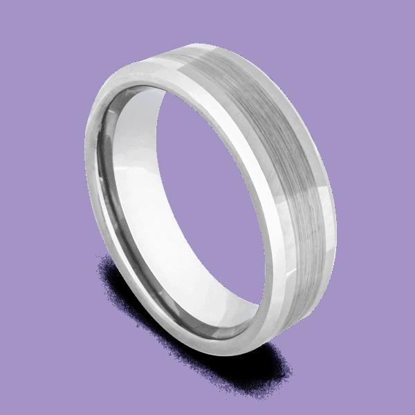 Silver Master - Tungsten Ring for Men
