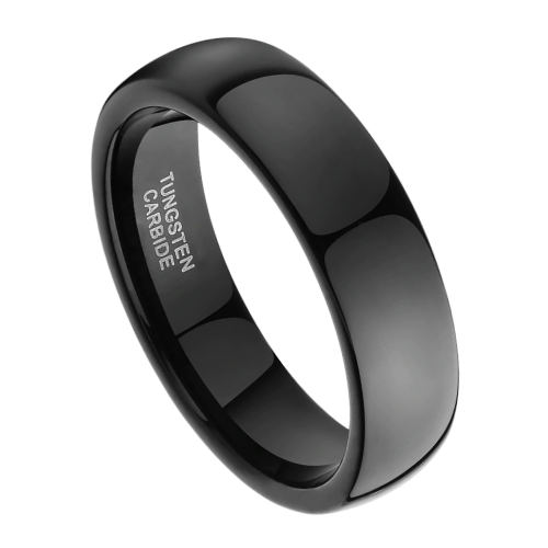 A gleaming black ring for men
