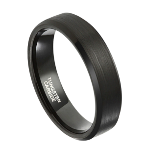 All black tungsten carbide ring for men