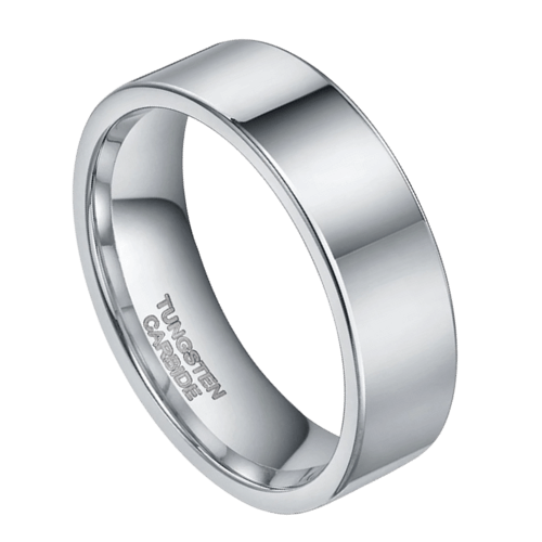 Silver Tungsten Ring for Men