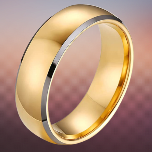 Gold with Silver Ring for Men