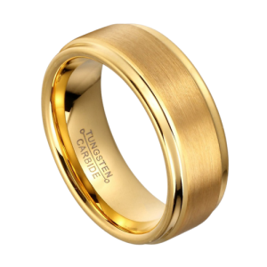 Gold Tungsten Ring for Men