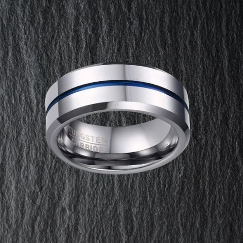 Silver Tungsten Men's Ring