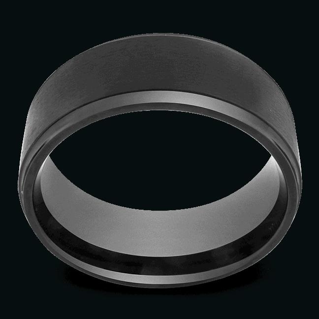 Black Ring for Men - Titanium