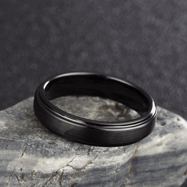 Black Men's Ring - Tungsten Carbide