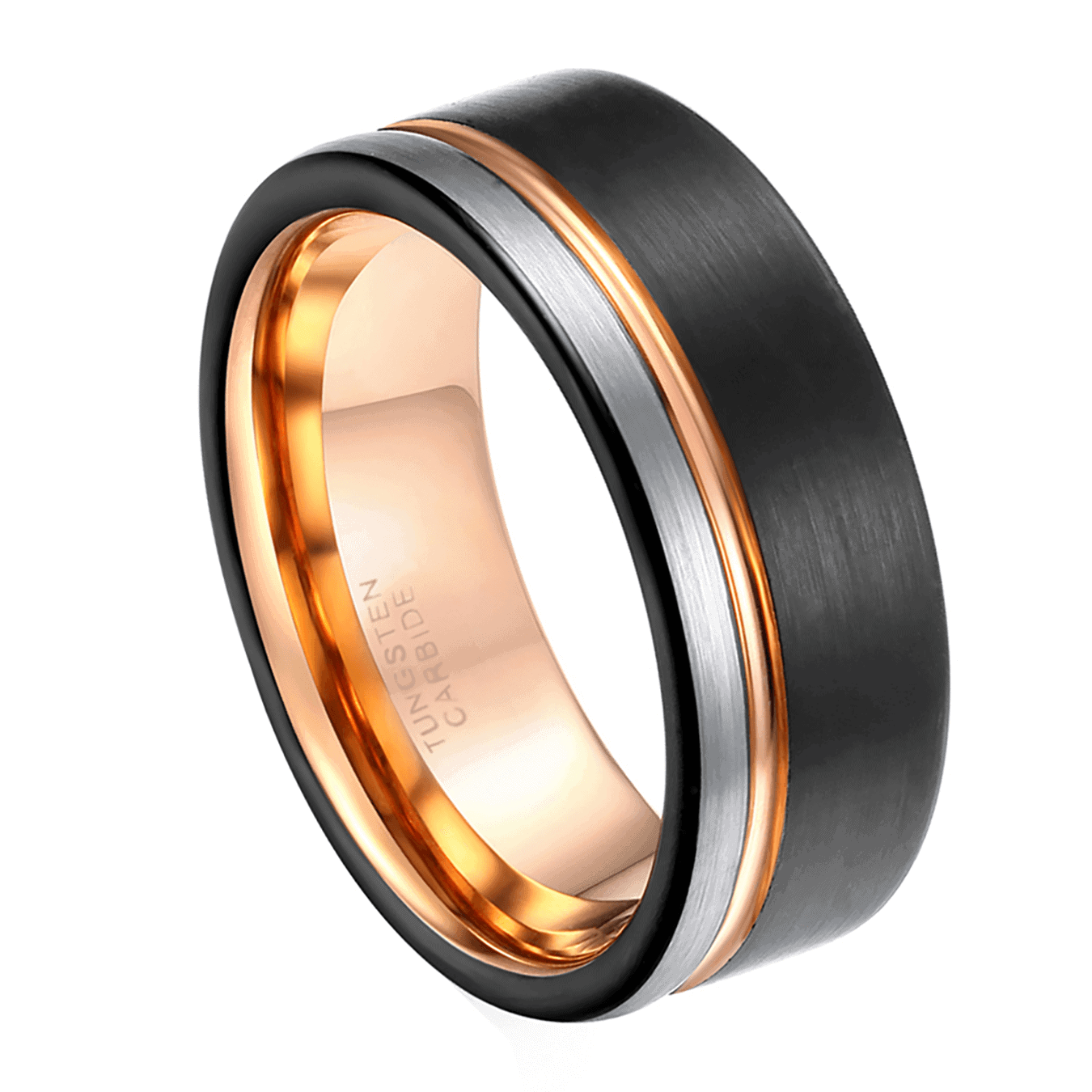 Men's Black Ring - Tungsten Carbide