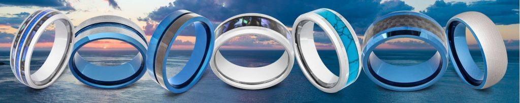 Range of Blue Rings for Men