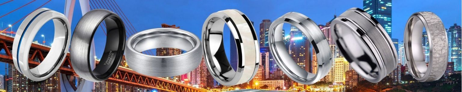 Collection of silver rings for men
