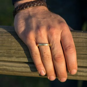 Man's hand showing his ring