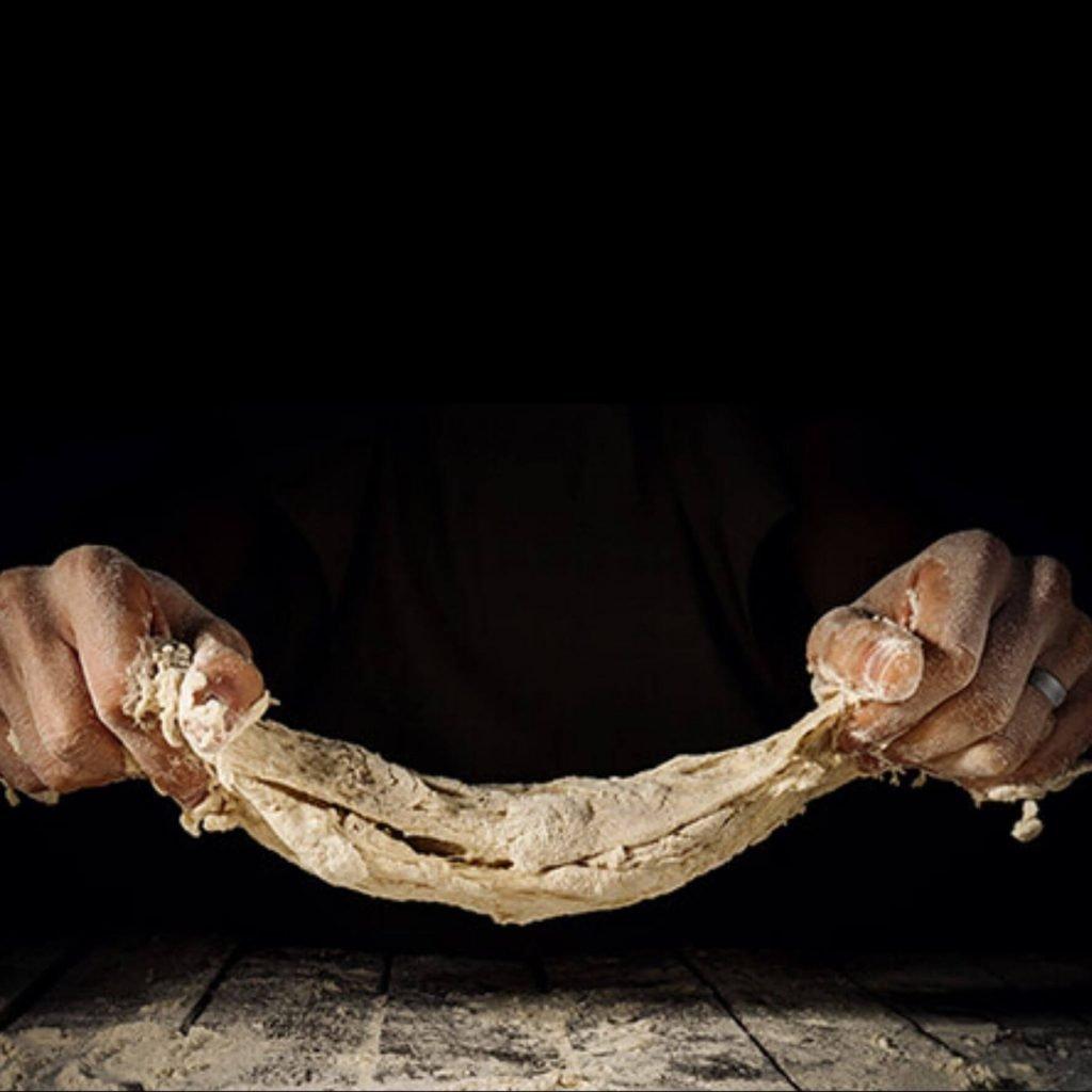 Stretching dough while wearing ring