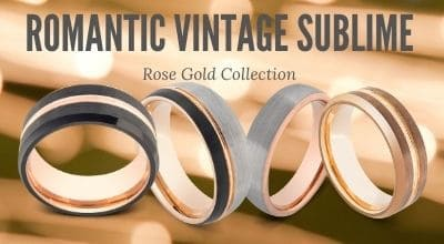 Collection of Rose Gold Rings for Men