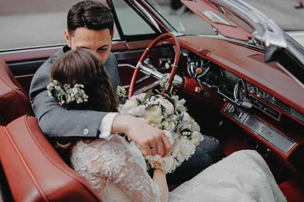 Getting Married, Groom wearing black ring
