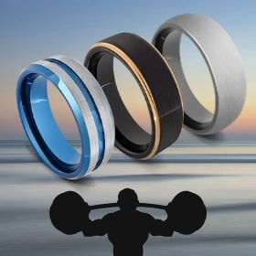 Three Mens Tungsten RIngs