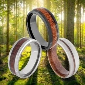 Brown / Wood Rings for Men