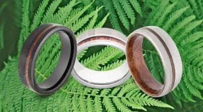 Men's Rings featuring Natural Wood