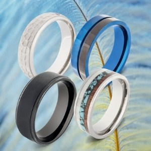 Collection of Titanium Rings for Men