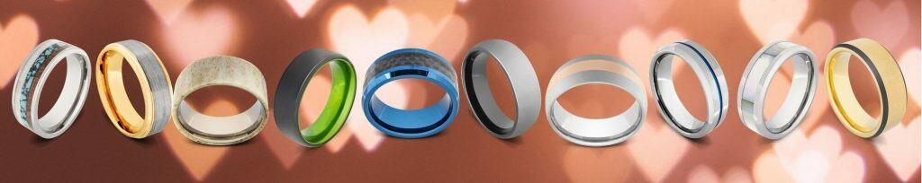 Tungsten and Titanium Rings for Men