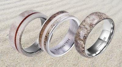 Collection of Antler Bone Rings for Men