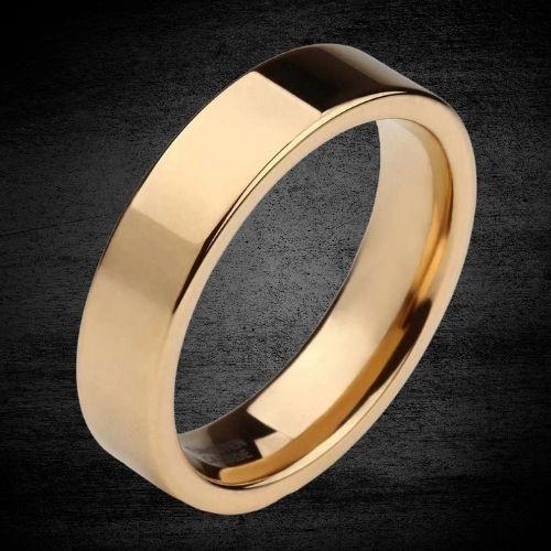 Gold Ring for Men - Tungsten