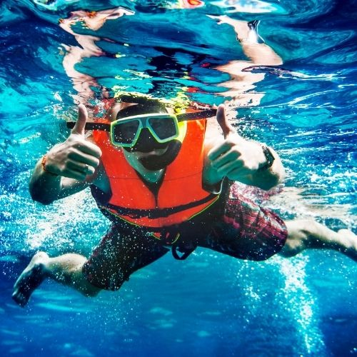 Swimming with Titanium Ring