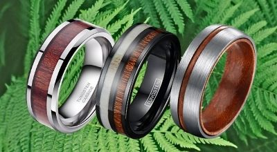Collection of Wood Rings for Men