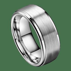 Silver Tungsten Ring for Men