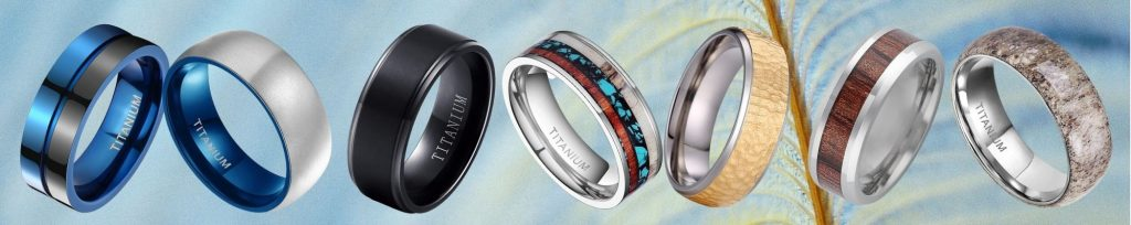 Collection of Men's Titanium Rings