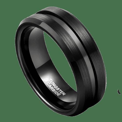 Men's All Black Tungsten Ring