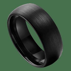 Men's Brushed Black Tungsten Ring