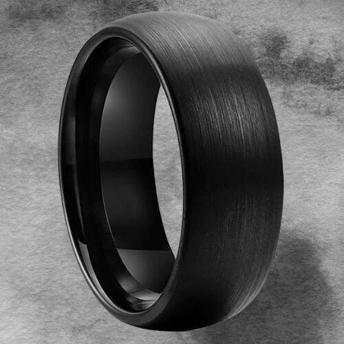 Dome Shaped Tungsten Ring for Men