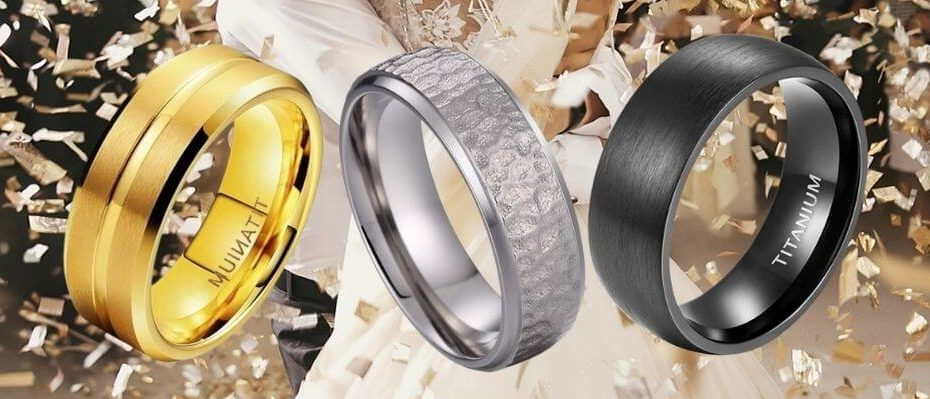 Selection of men's titanium rings