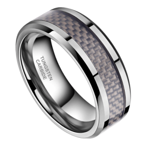 Men's Carbon Fibre and Tungsten Ring