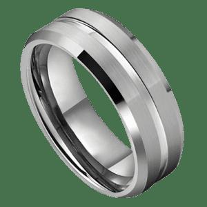 Men's Silver Tungsten Ring