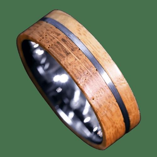 Men's Whiskey Barrel Wood Ring
