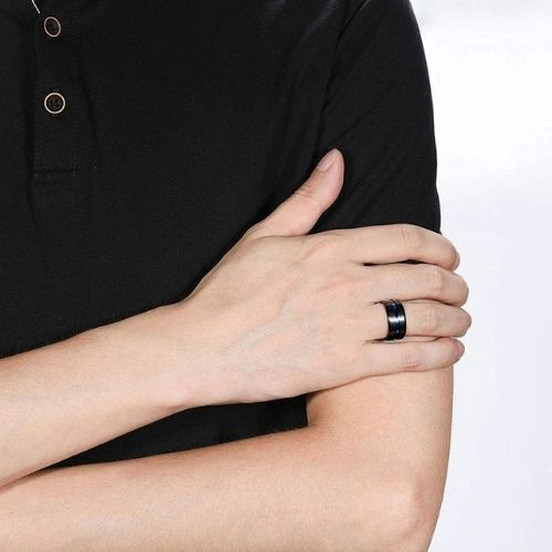 Mens Black Titanium Ring