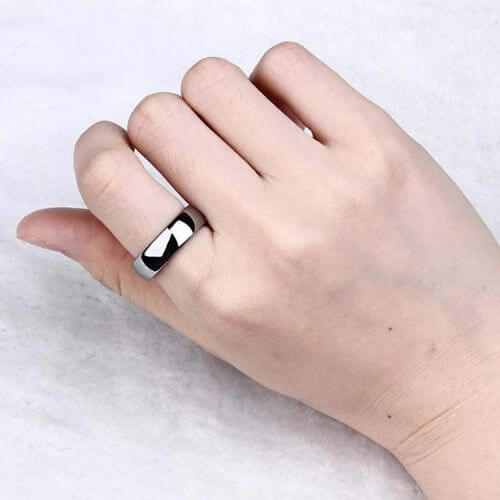 Men's Silver Titanium Ring