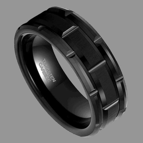 Black Tungsten Ring for Men