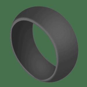 Mens silicone ring in dark grey
