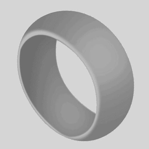Men's Light Grey Silicone Ring