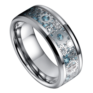 Men's Tungsten and Carbon Fibre Ring