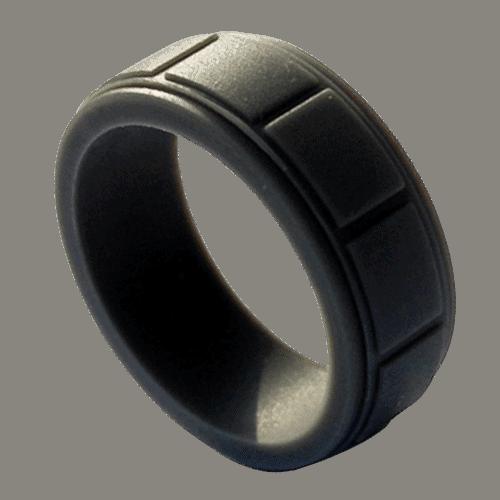 Men's Black Silicone Ring