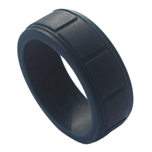 Men's Silicone Ring In Navy Blue