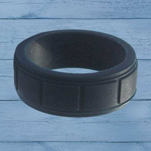 Mens silicone ring