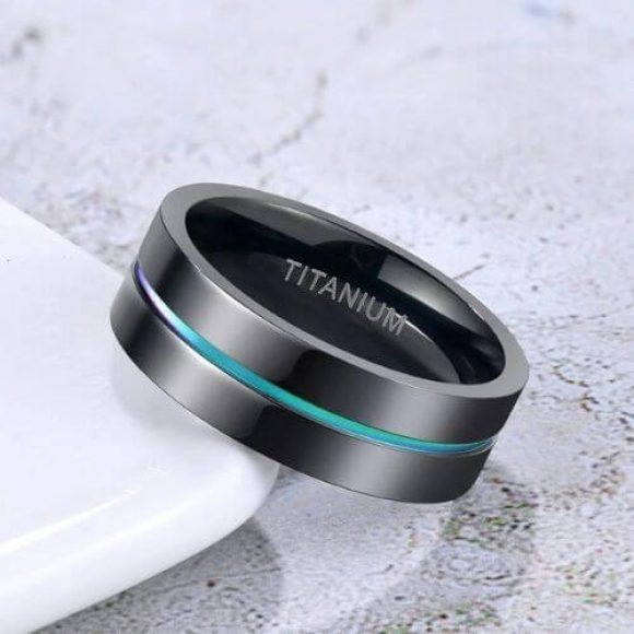 Titanium Ring for Men - Black