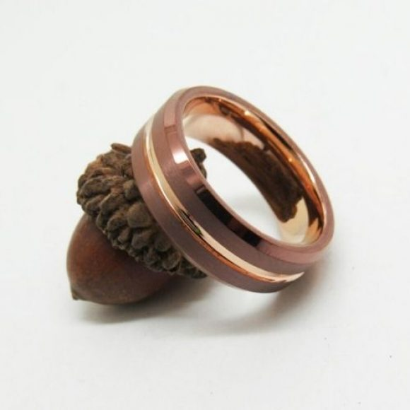 Brown and Gold Ring for Men