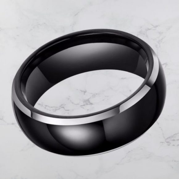 Black and Silver Men's Ring