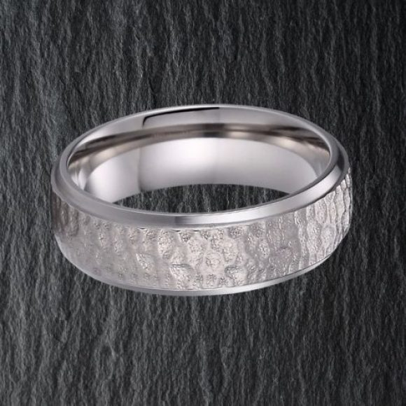 Silver Titanium Ring for Men